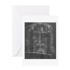 Shroud of Turin - Face of Jes Greeting Card