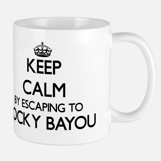 Keep calm by escaping to Rocky Bayou Fl Mug