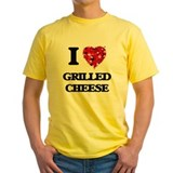 Grilled cheese Mens Yellow T-shirts