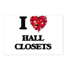 I love Hall Closets Postcards (Package of 8)