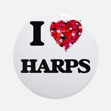 I love Harps Ornament (Round)