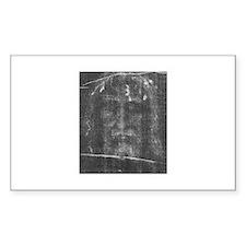 Turnin Shroud - Face of Jesus Sticker (Rectangular