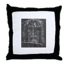 Turnin Shroud - Face of Jesus Throw Pillow