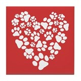 Paw print heart Drink Coasters