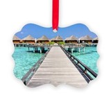 Bora bora Picture Frame Ornaments