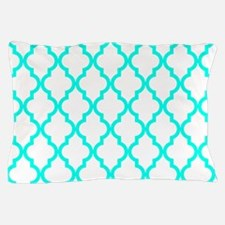 Turquoise Moroccan Pattern (Inverted) Pillow Case