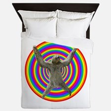 Rainbow Sloth Queen Duvet