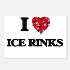 I love Ice Rinks Postcards (Package of 8)