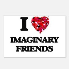 I love Imaginary Friends Postcards (Package of 8)