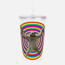 Rainbow Sloth Acrylic Double-wall Tumbler