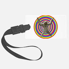 Rainbow Sloth Luggage Tag