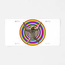 Rainbow Sloth Aluminum License Plate