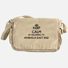 Keep calm by escaping to Whihala Eas Messenger Bag