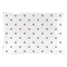 White & Gray Polka Dots Pillow Case