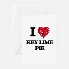 I love Key Lime Pie Greeting Cards
