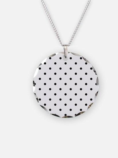 Black: Polka Dots Pattern (S Necklace