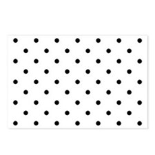 White & Black Polka Dots Postcards (Package of 8)
