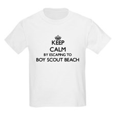 Keep calm by escaping to Boy Scout Beach M T-Shirt