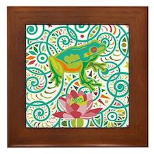 Tree Frog Framed Tile