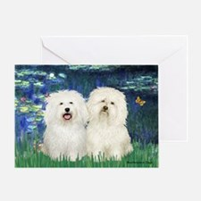 Lilies (#5) & 2 Bolognese Greeting Card