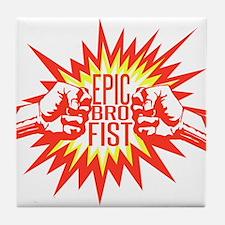 Epic Bro Fist Tile Coaster