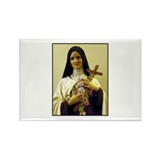 Saint Therese de Lisieux Rectangle Magnet