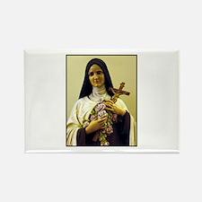 Saint Therese de Lisieux Rectangle Magnet