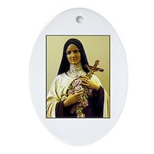 Saint Therese de Lisieux Oval Ornament
