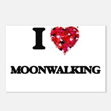 I love Moonwalking Postcards (Package of 8)