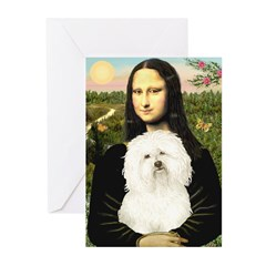 Mona and her Bolognese Greeting Cards (Pk of 20)