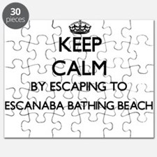 Keep calm by escaping to Escanaba Bathing B Puzzle