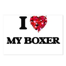 I love My Boxer Postcards (Package of 8)