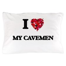 I love My Cavemen Pillow Case