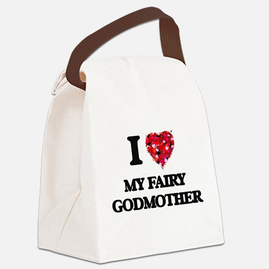 I love My Fairy Godmother Canvas Lunch Bag
