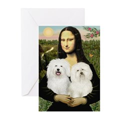 Mona's 2 Bolognese Greeting Cards (Pk of 20)