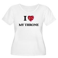 I love My Throne Plus Size T-Shirt