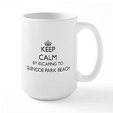 Keep calm by escaping to Glencoe Park Beach I Mugs