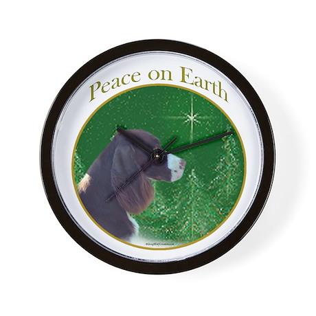 English Springer Peace Wall Clock