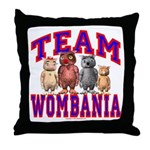Team Wombania Throw Pillow