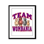 Team Wombania Framed Panel Print