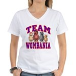 Team Wombania Women's V-Neck T-Shirt
