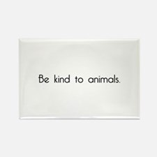Be Kind to Animals Rectangle Magnet (100 pack)