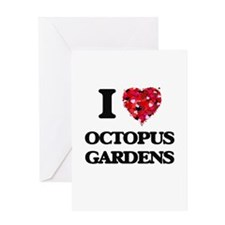 I love Octopus Gardens Greeting Cards