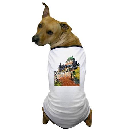 Frontenac Castle Quebec City Dog T-Shirt