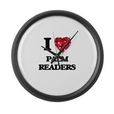 I love Palm Readers Large Wall Clock