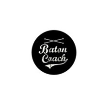 Baton Coach Mini Button