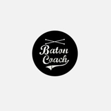 Baton Coach Mini Button