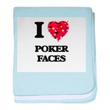 I love Poker Faces baby blanket