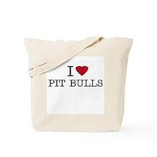 I Heart Pit Bulls Tote Bag