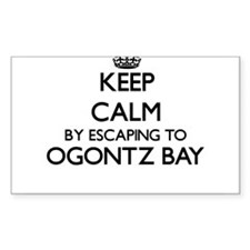 Keep calm by escaping to Ogontz Bay Michig Decal